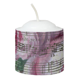 Floral Songs Votive Candle