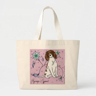 Floral Spaniel Tote Bag