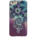 Floral spiral fractal barely there iPhone 6 plus case