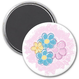 Floral Splash Refrigerator Magnet
