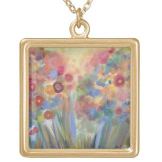 Floral Splendor Gold Plated Necklace