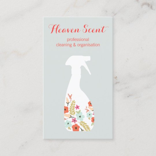 Floral spray bottle house cleaning business business card zazzle floral spray bottle house cleaning business business card colourmoves