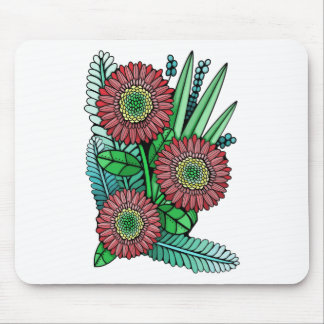 Floral Spray Color Mouse Pad