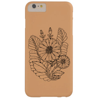 Floral Spray Line Art Design Barely There iPhone 6 Plus Case