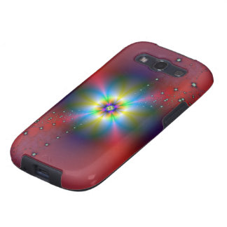 Floral Spray on Red Galaxy S3 Covers