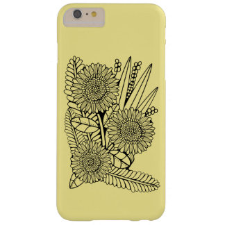 Floral Spray Two Line Art Design Barely There iPhone 6 Plus Case
