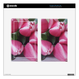 Floral Spring Bouquet of Pink Tulips, Flowers Kindle Fire Decals
