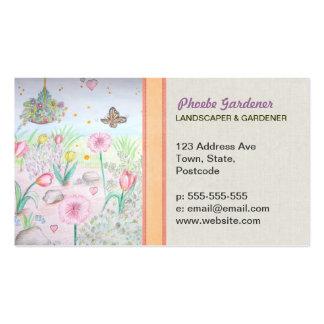 Floral Spring Garden Business Card Template