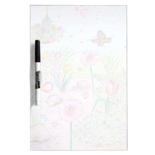 Floral Spring Garden Dry-Erase Board