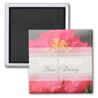 Floral Spring Wedding Magnet magnet