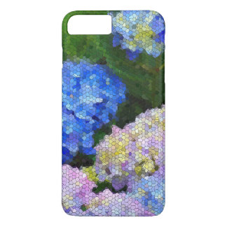 Floral Stained Glass l Colorful Garden Hydrangeas iPhone 7 Plus Case