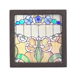 Floral Stained Glass Window Premium Gift Box