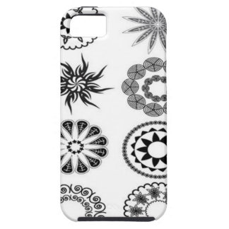 Floral stamps design iPhone SE/5/5s case