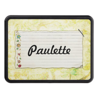 Floral Stapled Note Paper Bright Background Trailer Hitch Covers