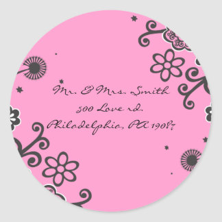 Floral Star Jewish Baby Naming Thank You Card Classic Round Sticker