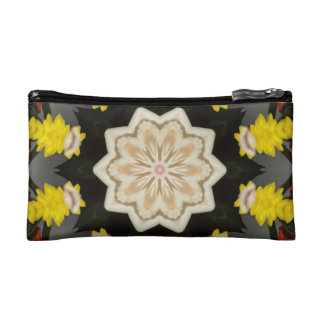 Floral Star Kaleidoscope Cosmetic Bag