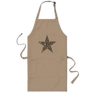 floral star long apron