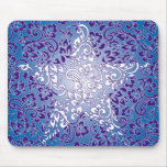 floral star mouse pad
