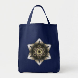Floral Star of David Tote Bag