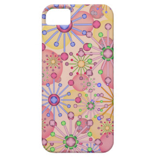 Floral Star with a touch of Circles Motif iPhone 5 Covers