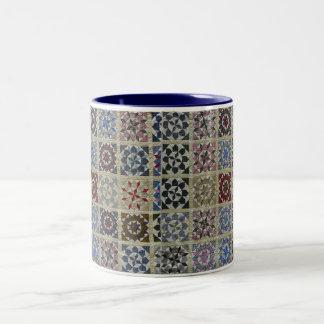 Floral Stars Two-Tone Coffee Mug