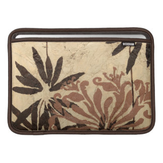 Floral Stencil Design with Tawny Leaves Sleeve For MacBook Air