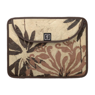 Floral Stencil Design with Tawny Leaves Sleeves For MacBooks
