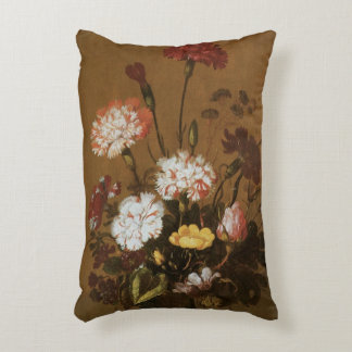 Floral Still Life Flowers in Vase, Vintage Baroque Accent Pillow