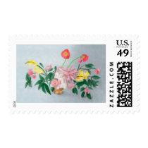 Floral Still Life Postage Stamps