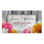 Floral Stone & Rustic Wood Personal Calling Cards Double-Sided Standard Business Cards (Pack Of 100)
