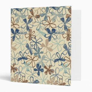 Floral Stonewashed Avery Binder