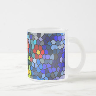Floral Strained-glass 10 Oz Frosted Glass Coffee Mug