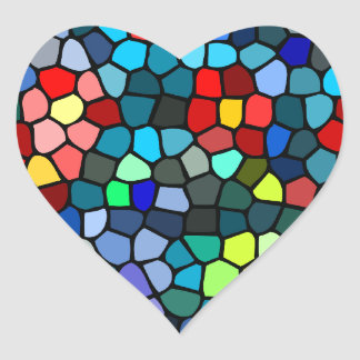 Floral Strained-glass Heart Sticker