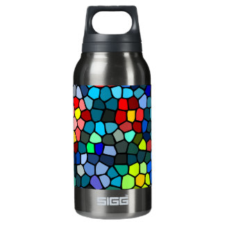 Floral Strained-glass Insulated Water Bottle