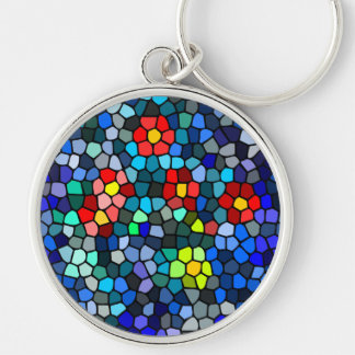 Floral Strained-glass Keychain