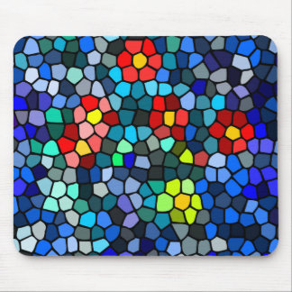 Floral Strained-glass Mouse Pad