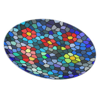 Floral Strained-glass Party Plates