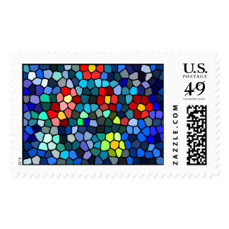 Floral Strained-glass Postage Stamps