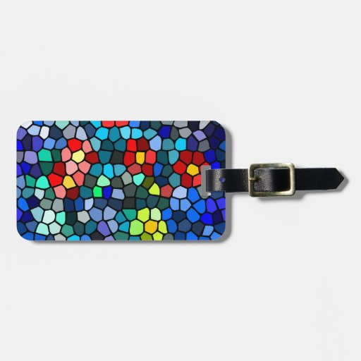Floral Strained-glass Travel Bag Tag