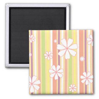 floral stripes_1 magnet