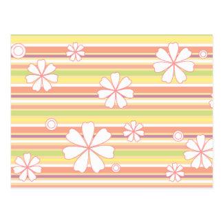 floral stripes_1 postcard
