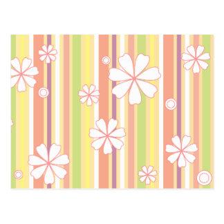 floral stripes_1a postcard