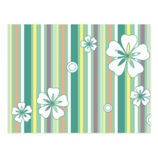 floral stripes_4a postcard