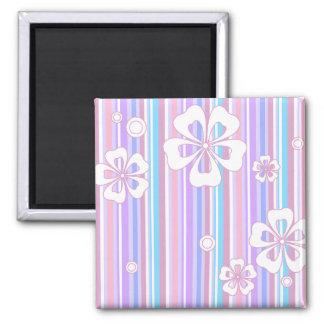 floral stripes_5 magnet