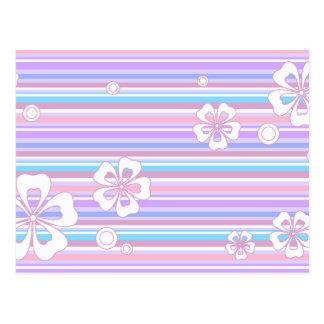 floral stripes_5 postcard