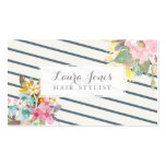 Floral & Stripes Hair Stylist Appointment Cards