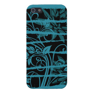 Floral Stripes iPhone SE/5/5s Cover