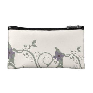 Floral & Stripes Makeup Bag