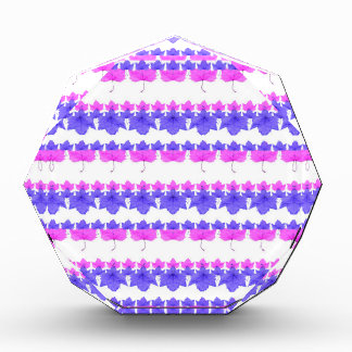 Floral Stripes Pattern Acrylic Award