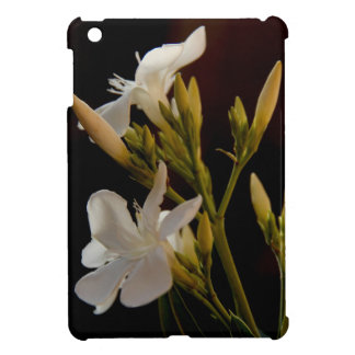 Floral Stunning White Blooms on Black Background iPad Mini Covers